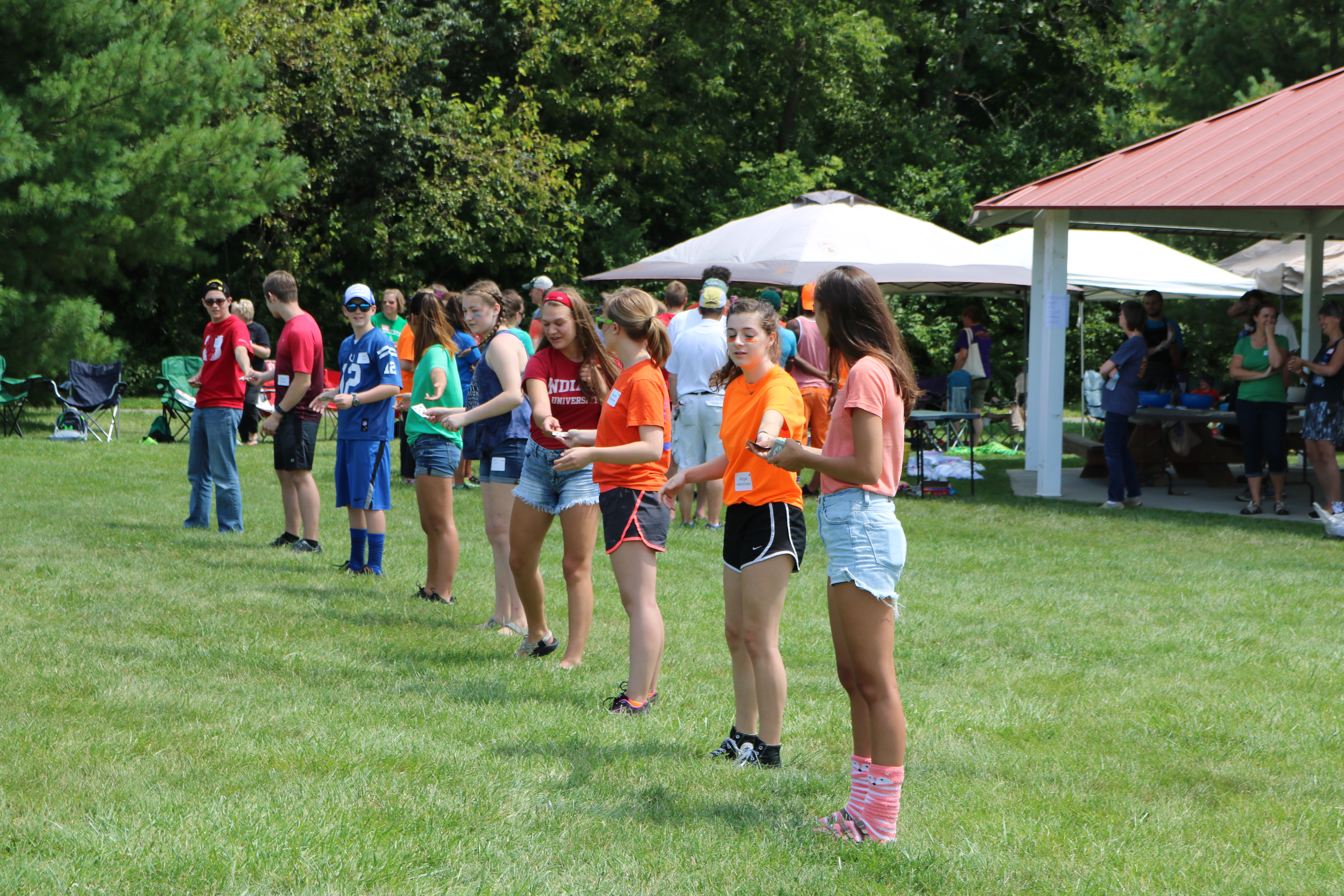 Competing at the high school kickoff retreat